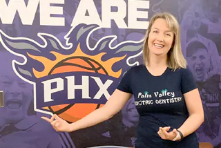 Dr. Olga Dolghier - PVPD and Phoenix Suns - Palm Valley Pediatric Dentistry & Orthodontics